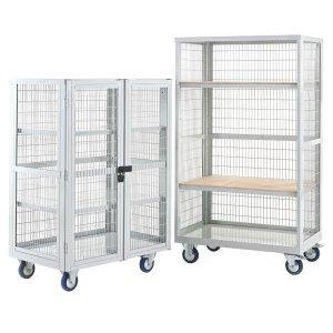 Mobile Distribution Trolley 1655x900x600mm, Steel Shelves, No Doors