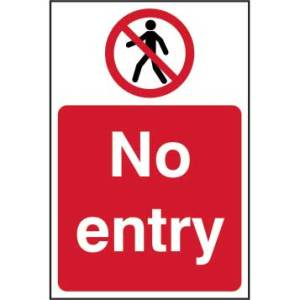 No Entry Sign - RPVC (400 x 600mm)