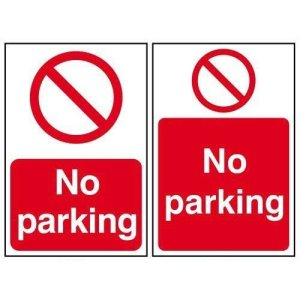 No parking -Sign PVC (400 x 600mm)