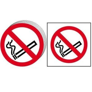 No smoking symbol - Sign - PVC (100 x 100mm)
