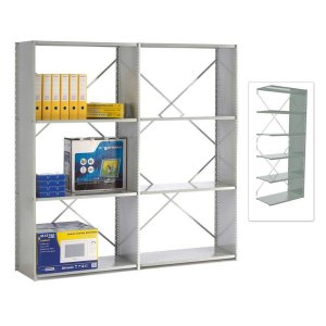 Open Back Solo Shelving Extension Bay - 1850h x 1250w x 450d 6 Shelves