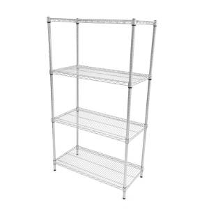Perma plus wire Shelving - 4 Tier 1625H x 915W x 610D Extension Bay