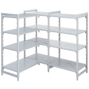 Polypropylene Shelving 400 deep 4x Solid Shelves 1335w Extension Bay