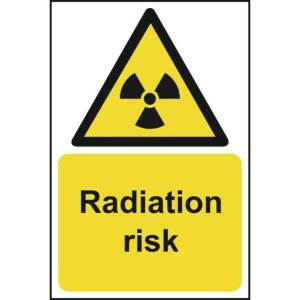 Radiation Risk - Sign - PVC (200 x 300mm)