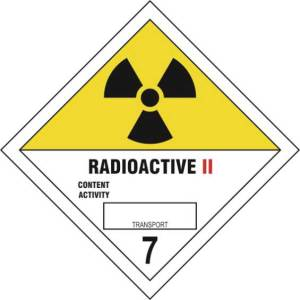 Radioactive II 7 - Self Adhesive Sticky Sign Diamond (100 x 100mm)