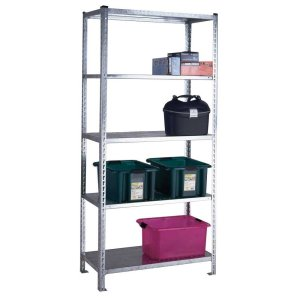 S/D Galvanised Shelving - 5 Galvanised Shelves 1981h x 900w x 450d