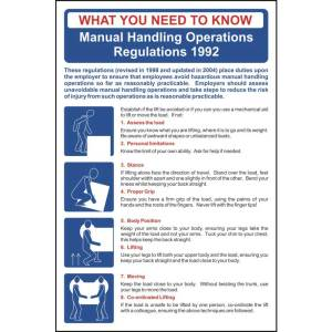 Safety Poster: Manual Handling Regulations - Sign - PVC (400 x 600mm)