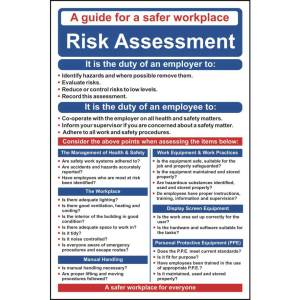 Safety Poster - Risk Assessment - Sign - PVC (400 x 600mm)
