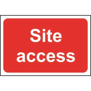 Site Access Sign