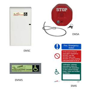 Steel Storage Cabinet For Exitmaster Versa and Elite Evacuation Chair