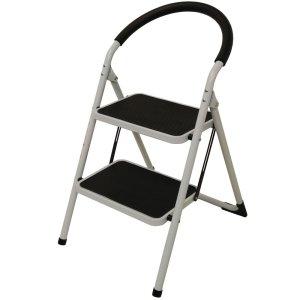 Step Ladder 2 Tread - White Frame