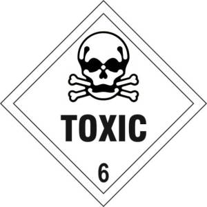 Toxic 6 - Self Adhesive Sticky Sign Diamond (200 x 200mm)