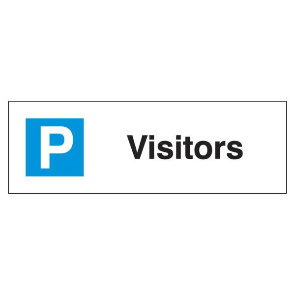 Visitors Parking Sign Rigid 1.2mm Poly 200mm x 600mm
