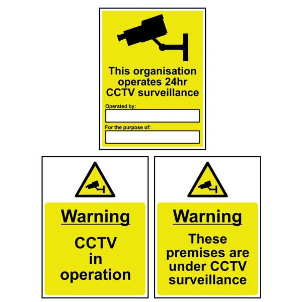 Warning CCTV in operation - Self Adhesive Sticky Sign (300 x 400mm)
