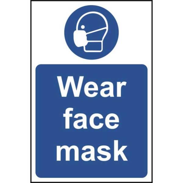 Wear Face Mask Sign - Rigid PVC (400 x 600mm)