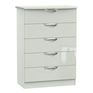 Weybourne 5 Drawer Bedroom Chest White