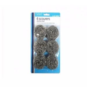 Zexum Stainless Steel Kitchen Cleaning Scourers Pads - Single