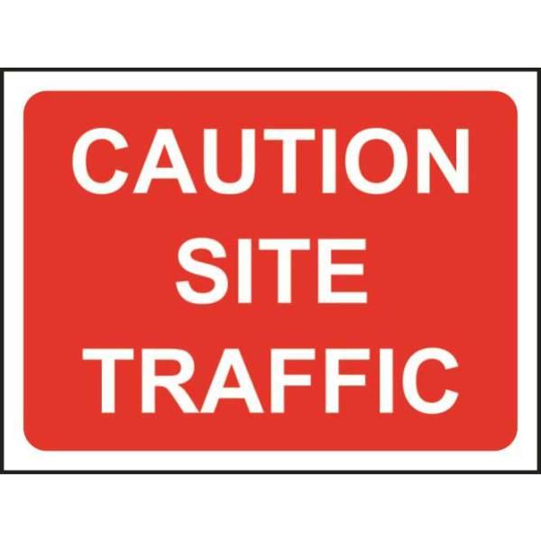 Zintec 1050x750mm Caution Site Traffic Road Sign (no frame)