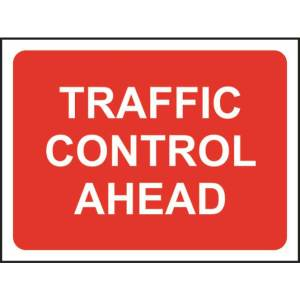 Zintec 1050x750mm Traffic Control Ahead Road Sign (no frame)