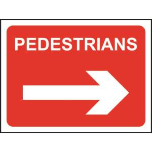 Zintec 600 x 450mm Pedestrians Right Road Sign with Frame