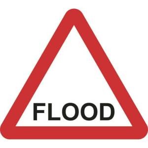 Zintec 600mm Triangular Flood Road Sign (no frame)