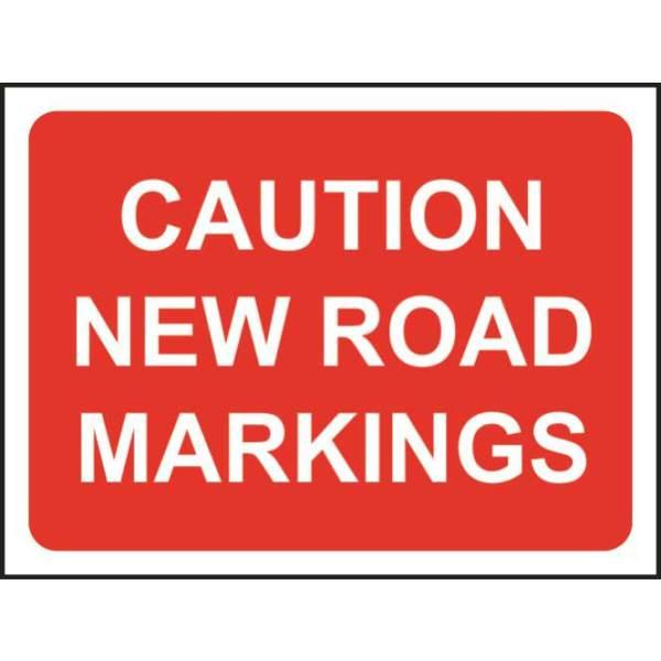 Zintec 600x450mm Caution New Road Markings Road Sign (no frame)