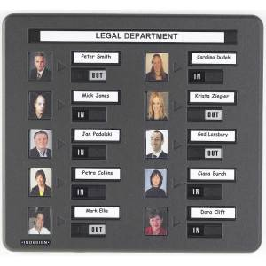 10 Person Photo In / Out Board (photo plus name)