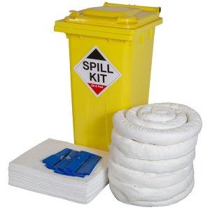 Chemical Spill Kit in yellow wheelie bin