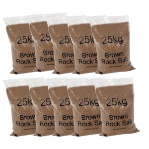 Dry brown rock salt - 1 metric tonne bulk bag