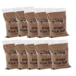 Dry brown rock salt 25kg bag pallet 40 bags