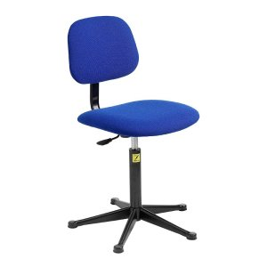 ESD Upholstered Operator Chair with Glides, Low Lift 430-570 h