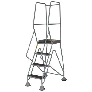 Fort Gamma Easy Glide Mobile Safety Steps with 3 Mesh Treads - 1750 x 610 x 830mm