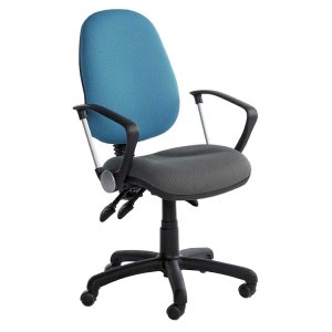 Fully Ergonomic 2 Tone Office Chair with Castors
