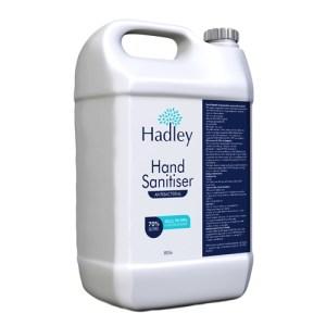 Hadley Antibacterial 70% Alcohol Hand Sanitiser / Sanitizer - 5 Litre