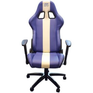 Laser Laser 6654 Racing Office Chair (Blue/White Stripe)
