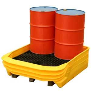 Palcon 2 Drum Pallet Converter - turns standard pallets into a spill bund