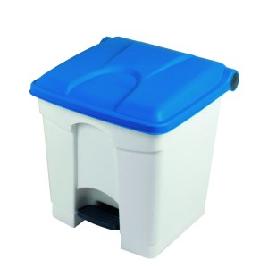 Pedal Bin Container 90L White Base, Coloured Lid 500 x 412 x 820mm