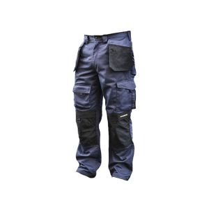 Roughneck Clothing Black & Blue Holster Work Trousers Waist 32in Leg 31in