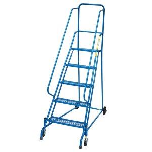 Spring Mobile Safety Steps - 4 phenolic non-slip treads - platform height 1000mm - EN-131 & DGUV Tested