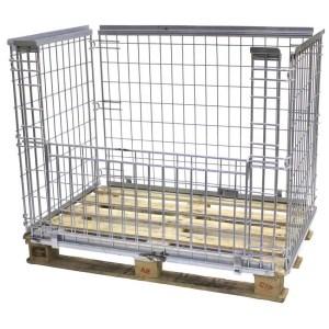 Stackable Mesh Pallet Cages 800kg cap 130h x 1200w x 1000d