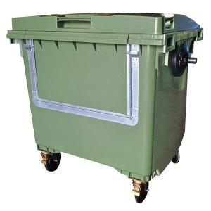 Wheelie bin with Drop Front - 660 litre