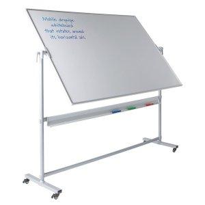Write-on Revolving Mobile Whiteboards, 1200 x 1200