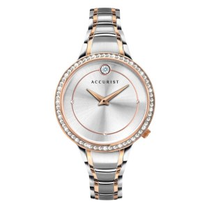 Accurist Ladies Pure Brilliance Watch with Two Tone Stainless Steel Bracelet