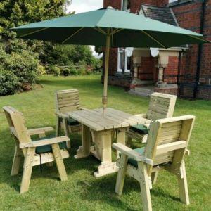 Croft Ergo 4 Seat Chair Rectangle Table Set
