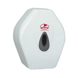 Andarta 06-028 Plastic Lockable Mini Jumbo Toilet Roll Dispenser