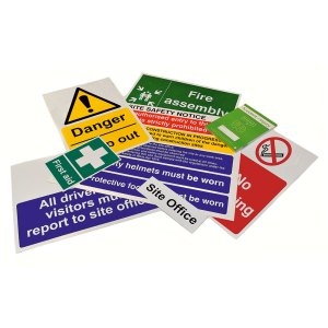 Construction Site Safety Sign Packs - Selection A