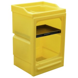 Polyethylene Spill cupboard with door - 980 x 580 x 640
