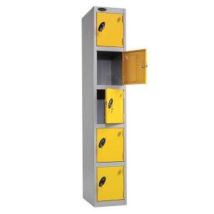 Probe 5-Door Metal Lockers - Nest of 3 - 1780h x 305w x 380d