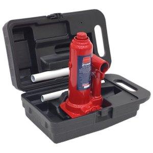 Sealey SJ2BMC Bottle Jack Yankee 2tonne with Carry-case
