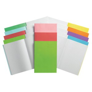 A4 Exercise Book Split Page Plain/13mm Ruled No Margin 32 Page Lig...